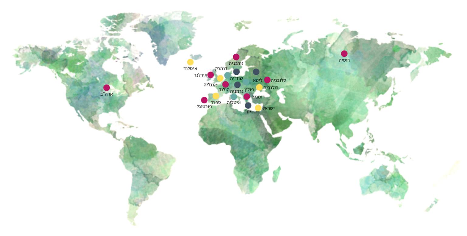 מפה של כל מתרגלי מיינדפולקידס בעולם